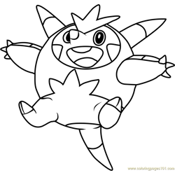 Quilladin Pokemon coloring page