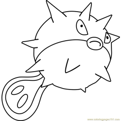 Qwilfish Pokemon Free Coloring Page for Kids