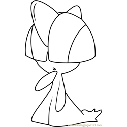 Ralts Pokemon coloring page