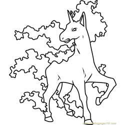 Rapidash Pokemon Free Coloring Page for Kids