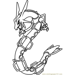 Rayquaza Pokemon coloring page