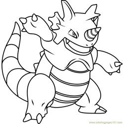 Heatran Pokemon Coloring Page - Free Pokémon Coloring ...