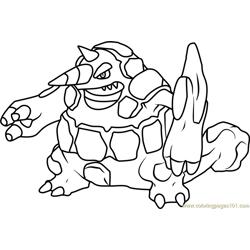 Gallade Pokemon Coloring Page