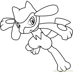 Riolu Pokemon Free Coloring Page for Kids