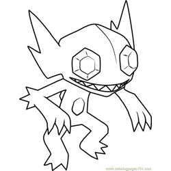 Sableye Pokemon Free Coloring Page for Kids