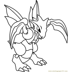 Scyther Pokemon Free Coloring Page for Kids