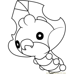 sewaddle pokemon coloring pages - photo#25