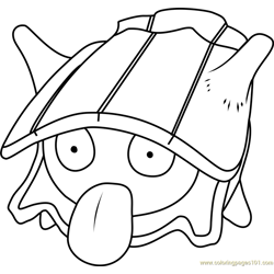 Shellder Pokemon Free Coloring Page for Kids