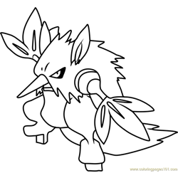 Shiftry Pokemon Free Coloring Page for Kids