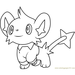 Shinx Pokemon Free Coloring Page for Kids