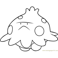 Shroomish Pokemon Free Coloring Page for Kids