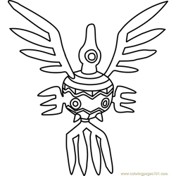 Sigilyph Pokemon Free Coloring Page for Kids