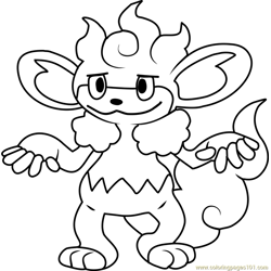 Simisear Pokemon Free Coloring Page for Kids