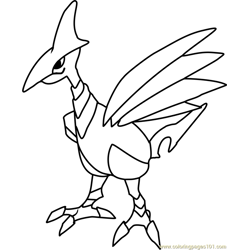 Skarmory Pokemon Free Coloring Page for Kids