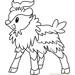 Skiddo Pokemon Free Coloring Page for Kids
