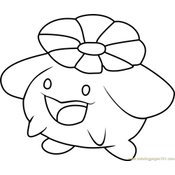 Skiploom Pokemon Free Coloring Page for Kids