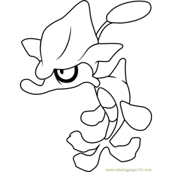 Skrelp Pokemon Free Coloring Page for Kids