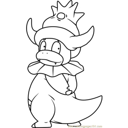 Slowking Pokemon Free Coloring Page for Kids