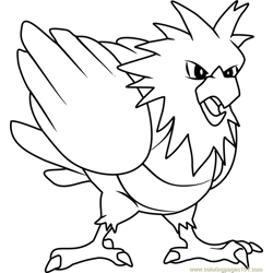 Spearow Pokemon coloring page