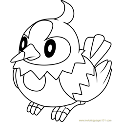 Starly Pokemon coloring page