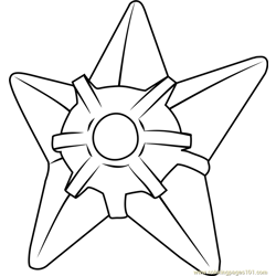 Staryu Pokemon coloring page