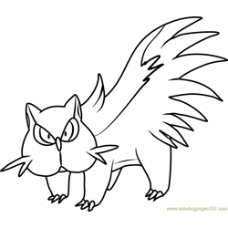 Stunky Pokemon coloring page
