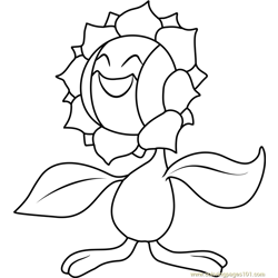 Sunflora Pokemon coloring page