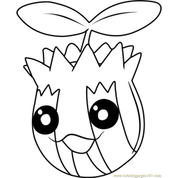 Sunkern Pokemon coloring page