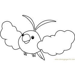 Swablu Pokemon coloring page