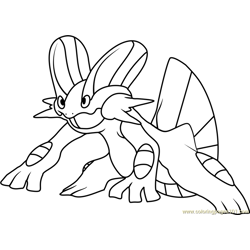 Swampert Pokemon coloring page