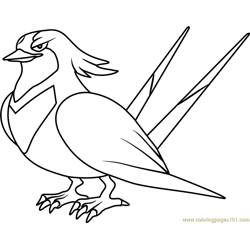 Swellow Pokemon coloring page