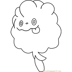 Swirlix Pokemon coloring page