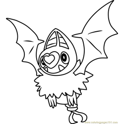 Swoobat Pokemon coloring page