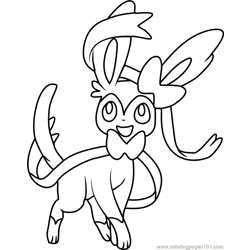 SYLVEON Coloring Pages 1 SYLVEON worksheets for kids