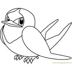 Taillow Pokemon coloring page