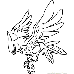 Talonflame Pokemon coloring page