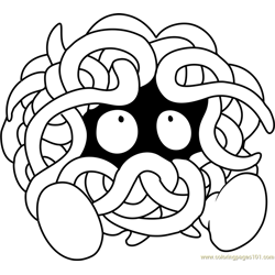Tangela Pokemon coloring page