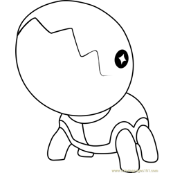 Trapinch Pokemon Free Coloring Page for Kids