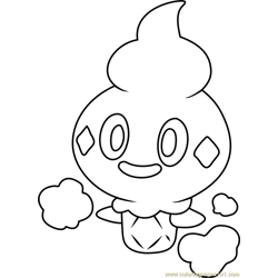 Vanillite Pokemon Free Coloring Page for Kids