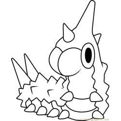 Wurmple Pokemon Free Coloring Page for Kids