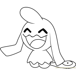 Wynaut Pokemon coloring page