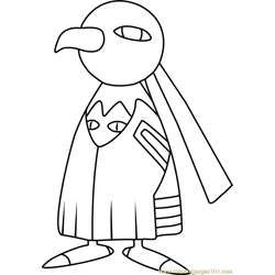 Xatu Pokemon Free Coloring Page for Kids