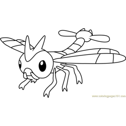 Yanma Pokemon Free Coloring Page for Kids