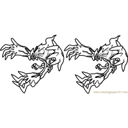 Yveltal Pokemon Free Coloring Page for Kids
