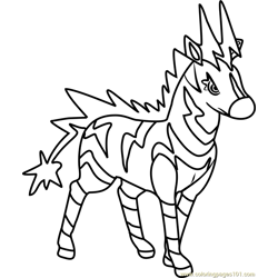 Zebstrika Pokemon Free Coloring Page for Kids