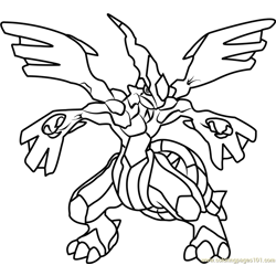 Zekrom Pokemon Free Coloring Page for Kids