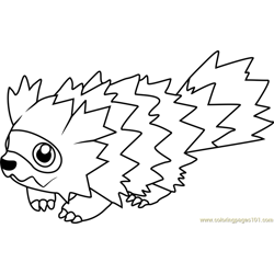 Zigzagoon Pokemon Free Coloring Page for Kids