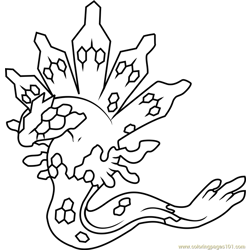 Zygarde Pokemon Free Coloring Page for Kids