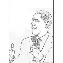 Barack Obama Coloring Page Free Politics Coloring Pages
