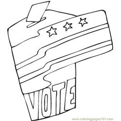 Vote (21) coloring page